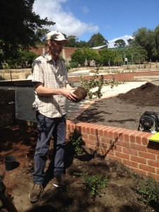 Instructor Rainer Oberle discusses the right way to plant out the Chilean Guava